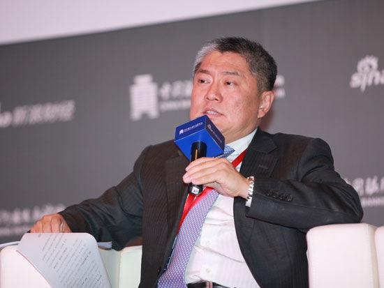 """""""2015银行业发展论坛""""于7月9日在北京举行。上图为工商银行资产管理部总经理韩松"""