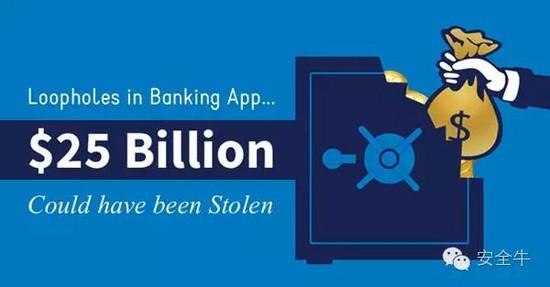手机银行漏洞:五行代码可转走银行250亿美元存款