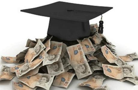 因此,多数美国的大学生都需要申请学生贷款来支持完成学业.图片