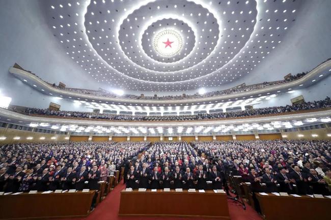 3月5日,第十三届全国人民代表大会第二次会议在?#26412;?#20154;民大会?#27599;?#24149;。新华社记者鞠鹏摄